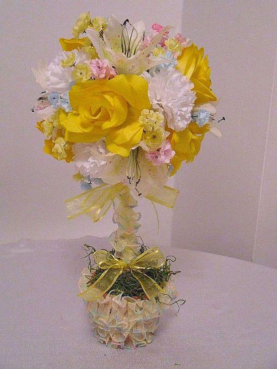 Sale Topiary Silk Flower Arrangement Spring