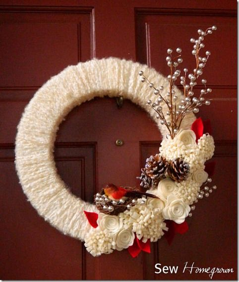35 winter wreaths you can make yourself