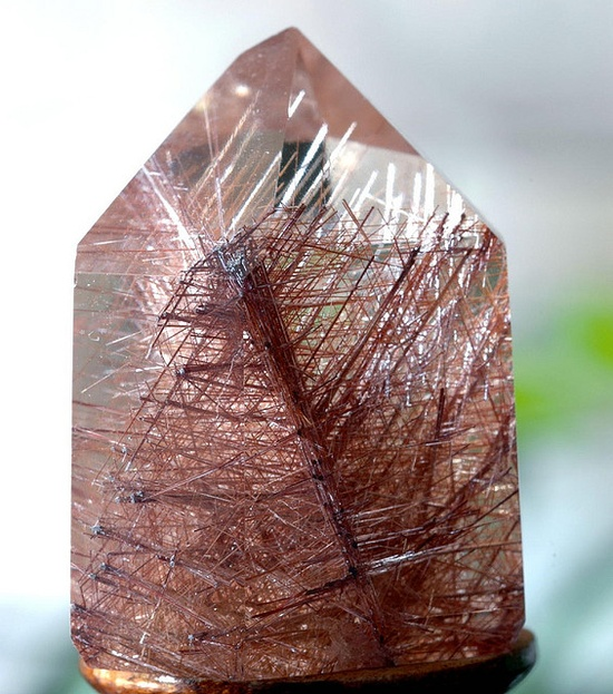 Gem Rutile Quartz #minerals #rocks #crystal
