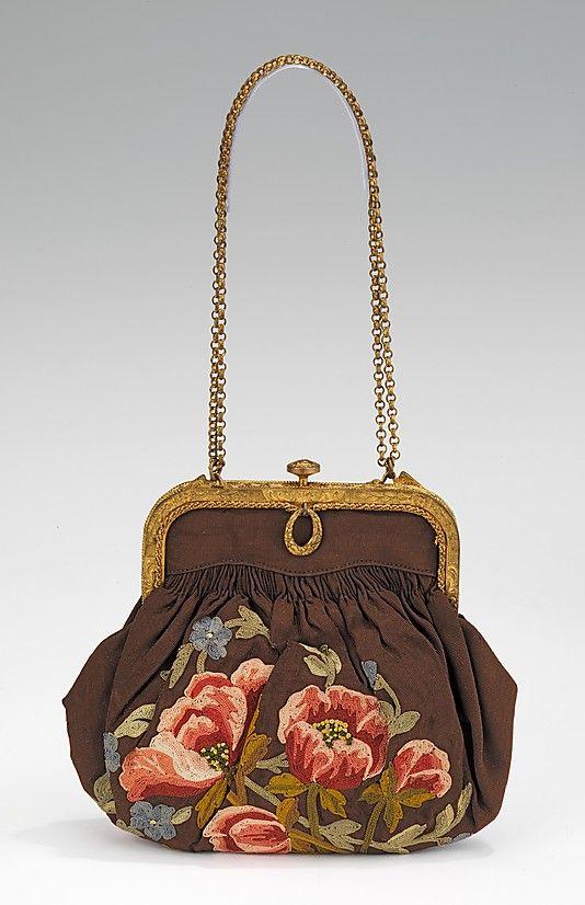 French Bag - 1920's -  Silk, metal - The Metropolitan Museum of Art - @~ Mlle