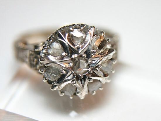 Antique European Diamond Cocktail Ring, Circa 1890