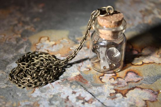 Steampunk Vial Necklace by MatthewLoweArt on Etsy, £6.99