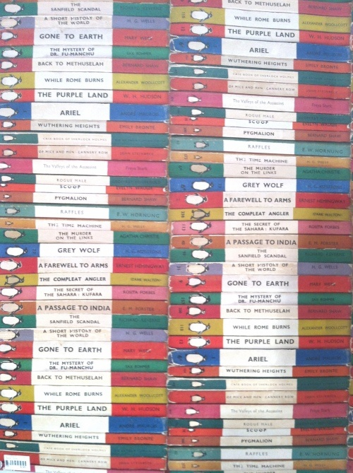 old Penguin books wrapping paper...