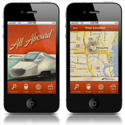 iPhone app user interface design