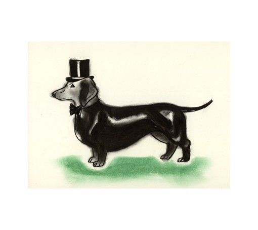 I love this dachshund print!