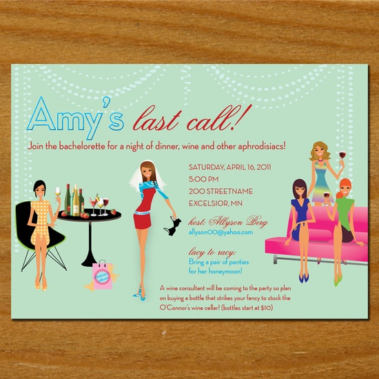 Cute Bachelorette party invitation