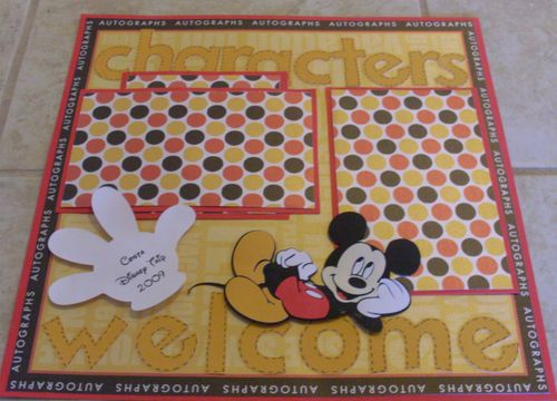 Mickey Scrapbook Page Ideas