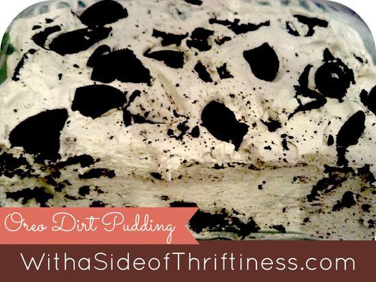 Oreo Dirt Pudding Dessert Recipe