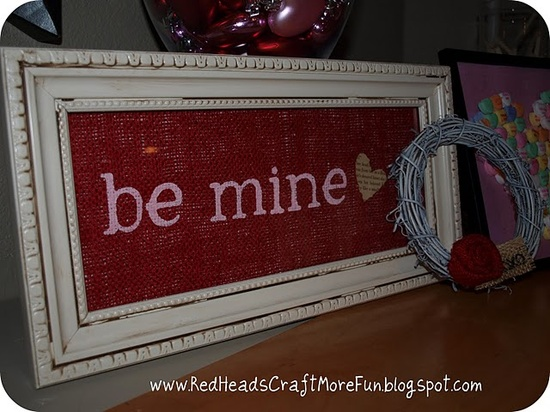 Valentine's Day projects - mantle