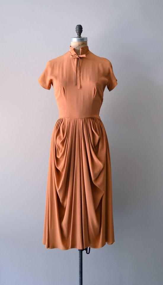 vintage 1950s CEIL CHAPMAN rayon dress     #vintagedress