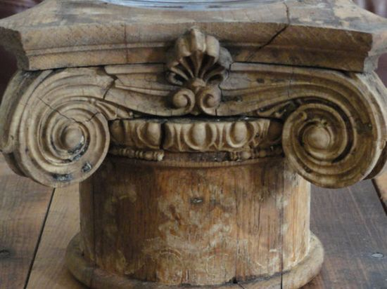 Architectural salvage for side table...