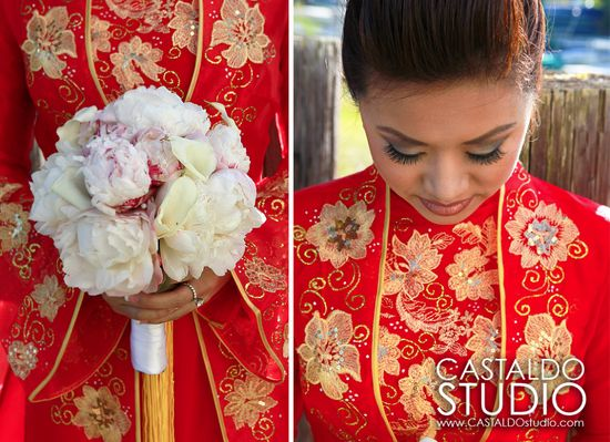 Very ornate wedding #aodai