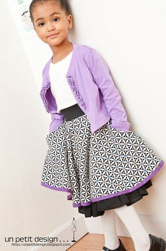 """The """"Fully Loaded"""" Circle Skirt. This skirt tutorial includes instructions for pockets, a full lining, peeking ruffle and   modesty shorts (because you have to twirl in a circle skirt)."""
