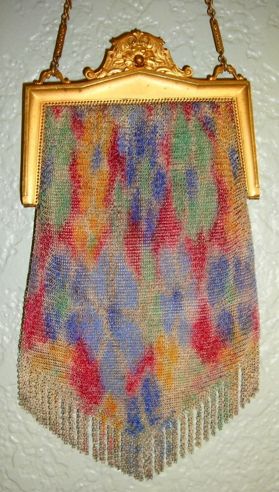 Colorful Whiting Davis Vintage Fine Mesh Purse