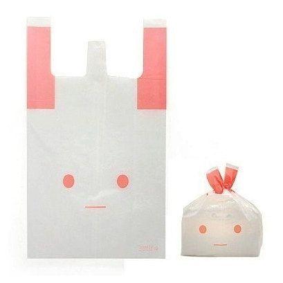 Pink Rabbit Plastic Bag set