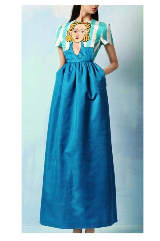 cartoon picture Long section of dress