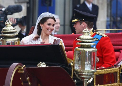 The Duke and Duchess of Cambridge leaving Westminster Abbey by The British Monarchy, via Flickr