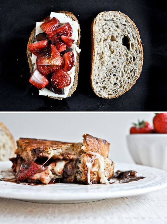 Roasted Strawberries & Brie Grilled Cheese