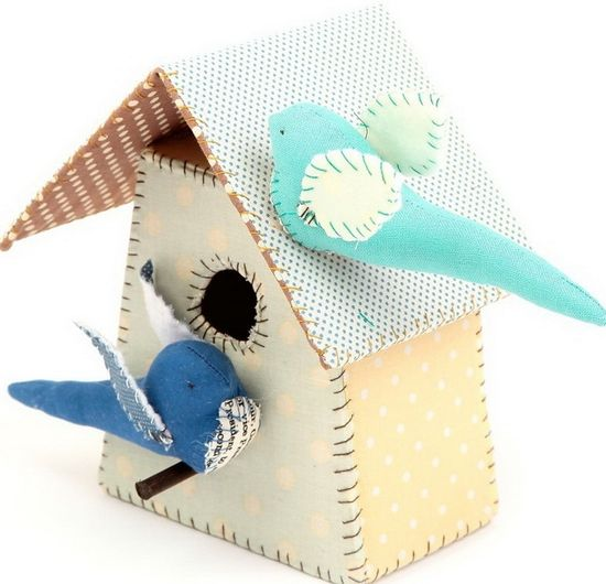 So darling are these handmade birds and birdhouses are!