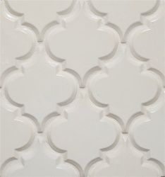 Beveled Arabesque- Ivory Kitchen Backsplash Tile *Sold per Square Foot *8 pcs per square foot *1x6 bullnose available Sample Size may be smaller than a full sheet. Samples are intended for color and texture reference only. Not for use. Limit 1 sample per item. Beveled Arabesque- Ivory Kitchen Backsplash Tile