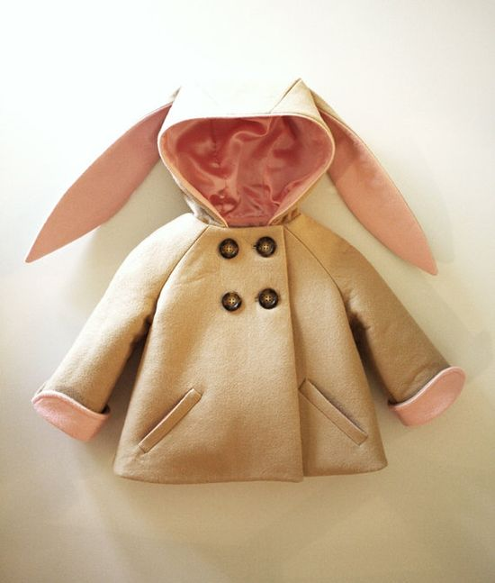 Honey Bunny Coat in Pink by littlegoodall on Etsy