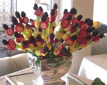 Fruit kabob display