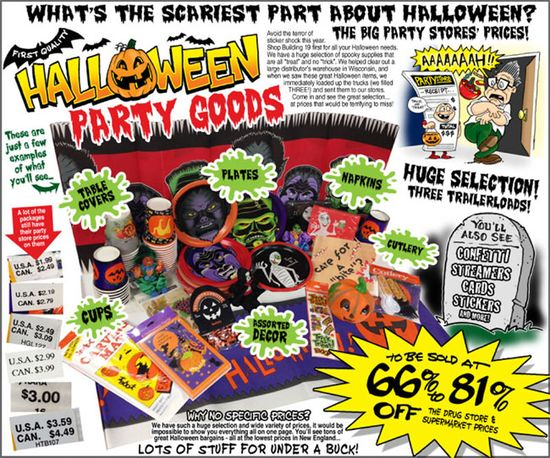 Halloween party goods are 30% off this weekend only!