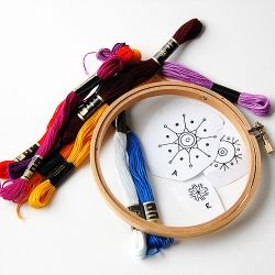 Vintage embroidery patterns to inspire you, learn a new craft this weekend :)