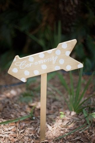 polka dot wedding sign