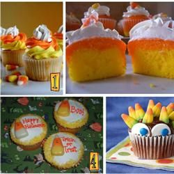 Candy Corn Cupcakes Allrecipes.com