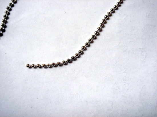 Silver Plated Smooth Ball Chain 10 meter Size 2mm by five0101, $10.00