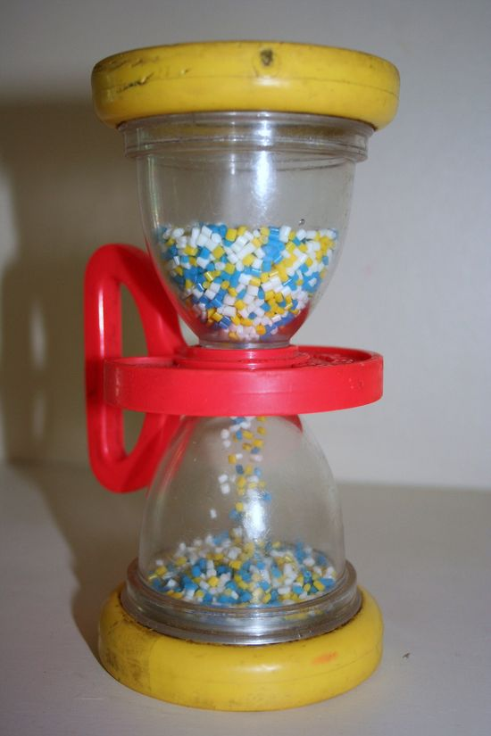Vintage Fisher Price Hourglass Baby Toy by
