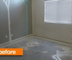 Before & After: From Crummy To Fabulous Faux Bois Concrete Floors Vintage Revivals