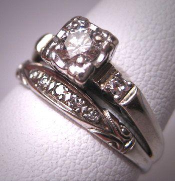 Love vintage wedding rings