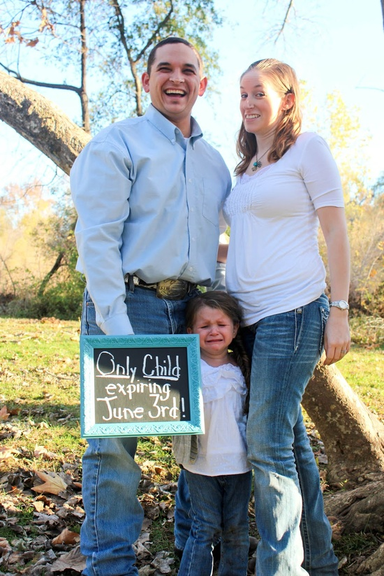 Were famous :) Love how the baby announcements turned out! Only child expiring + due date of 2nd baby. So funny!