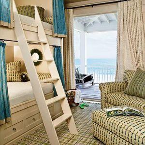 Beach house design photos - house decorating blog - beach-bunk-room.jpg