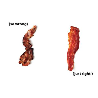 """Bake your bacon! Turns out perfect every time. Source: Cooking Light, """"The Most Common Cooking Mistakes""""."""