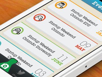 Dribbble - Startup Weekend app by Racine Davis