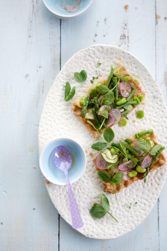 Gluten and dairy free spring vegetable tart