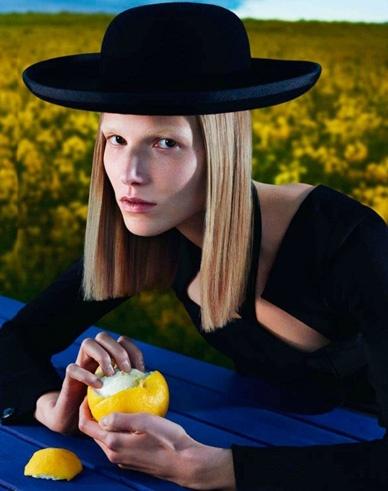 """EDITORIAL Vogue Paris September 2012 """"Le Noir Partie 2"""" Feat. Suvi Koponen by Mert & Marcus"""