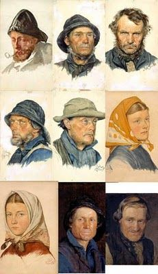 Portraits by Peder Krøyer