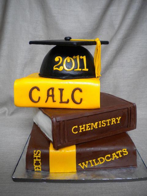 Stack of Books Grad Cake