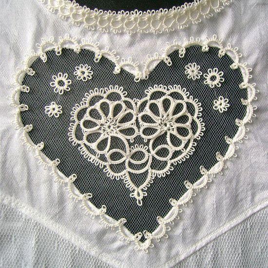 Lace heart insert