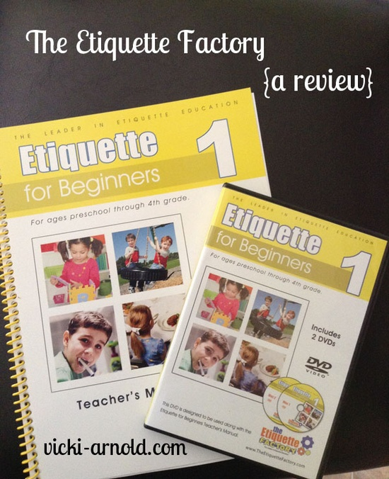A review of The Etiquette Factory character training curriculum. Good for homeschool or traditional classroom settings.