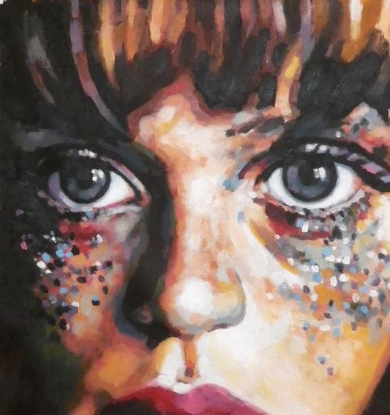"thomas saliot; Oil, Painting ""Glitters"""