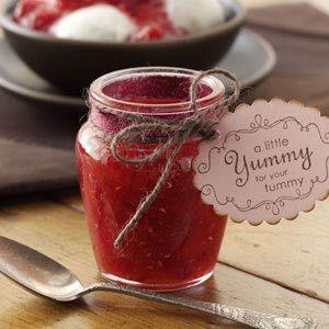 Freezer Raspberry Sauce Recipe from Taste of Home