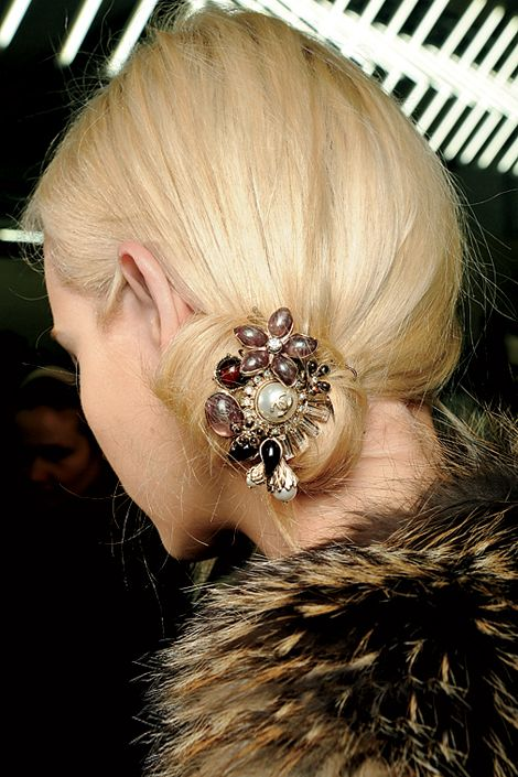 Bejeweled hair accessories