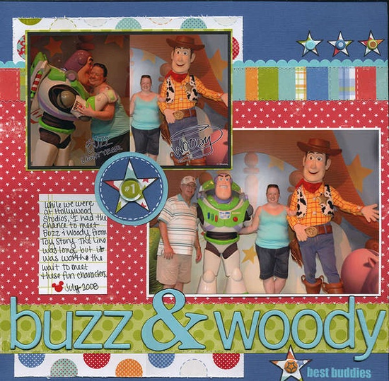Toy Story scrapbook layout