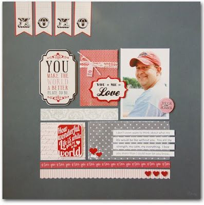 #papercraft #scrapbook #layout Beautiful page by Lisa Dorsey