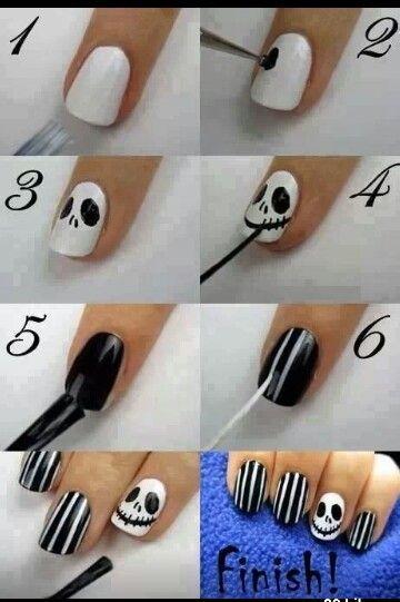 Jack skellington nails. OMG so frekin cute!!